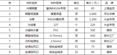 格力中央空调安装价格表